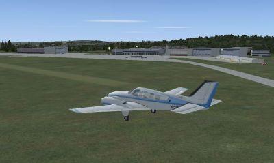 Screenshot of Ensheim Airport Scenery.