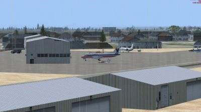 Fairgrounds Airpark Airport Scenery.