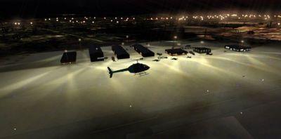 Screenshot of Farmington Regional Airport at night.