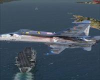 Screenshot of Jet flying past carrier in Alaska.