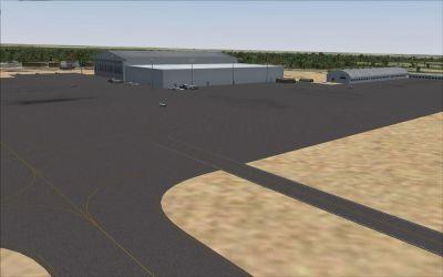 Harare International Airport Scenery.