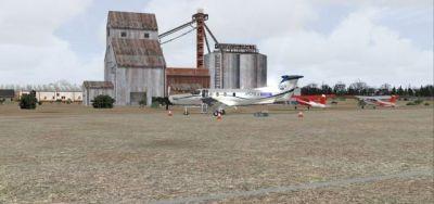 Screenshot of Hay Fever Farm Scenery.