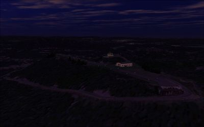 Screenshot of Hill Top Airport Scenery at dusk.