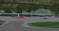 Hobart International Airport Scenery.