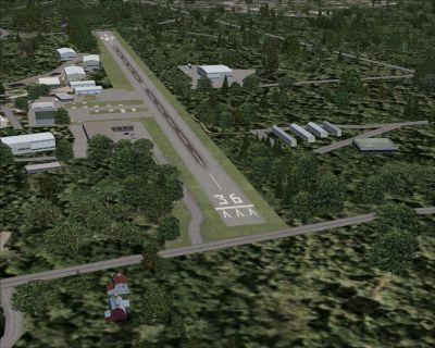 Runway at Hopedale Industrial Park.