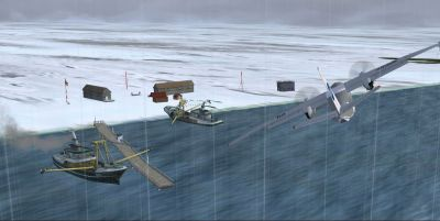 Ice Station Gold Coin Scenery.