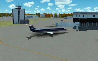 Ithaca-Tomkins County Airport Scenery.