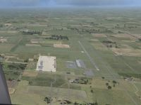 Aerial view of Jasper County Airport Scenery.