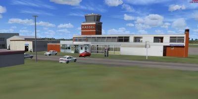 Screenshot of Kassel Calden Airport Scenery.