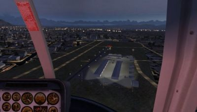 Night time approach to La Cholla Airpark.