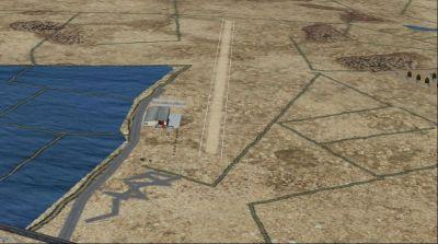 Aerial view of La Tranche Sur Mer runway.
