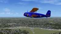 Screenshot of plane flying over Roosevelt Field.