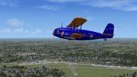 Screenshot of plane flying over Roosevelt Field.