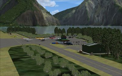 Screenshot of Milford Sound Airport Scenery.