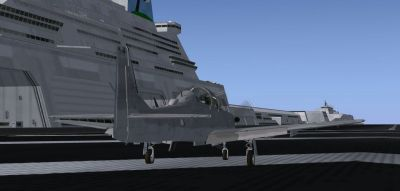 Screenshot taken on Mobile Air Base MAB-03 of a jet on the runway.