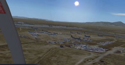 Screenshot of Mojave Boneyard Scenery.