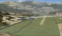 Screenshot of Mont-Louis la Quillane Airport Scenery.