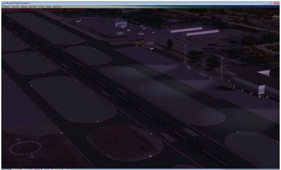 Screenshot of Monterey Peninsula Airport at night.