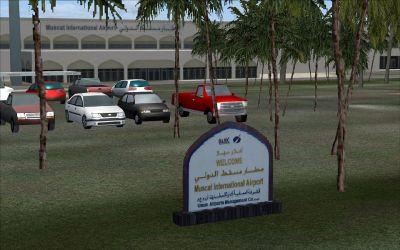 Screenshot of Muscat International Airport Scenery.