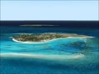 Aerial view of Necker Island.