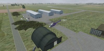 Screenshot of New Castle-Henry County Municipal Airport Scenery.