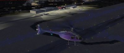 Screenshot of Northeast Philadelphia Airport at night.