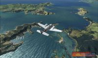 Screenshot of aircraft in flight over Northland Scenery.