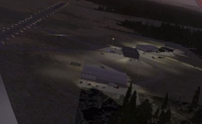 Screenshot of Perry Stokes Airport Scenery at night.