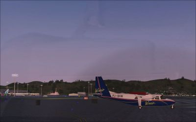 Screenshot of Princess Juliana International Airport.