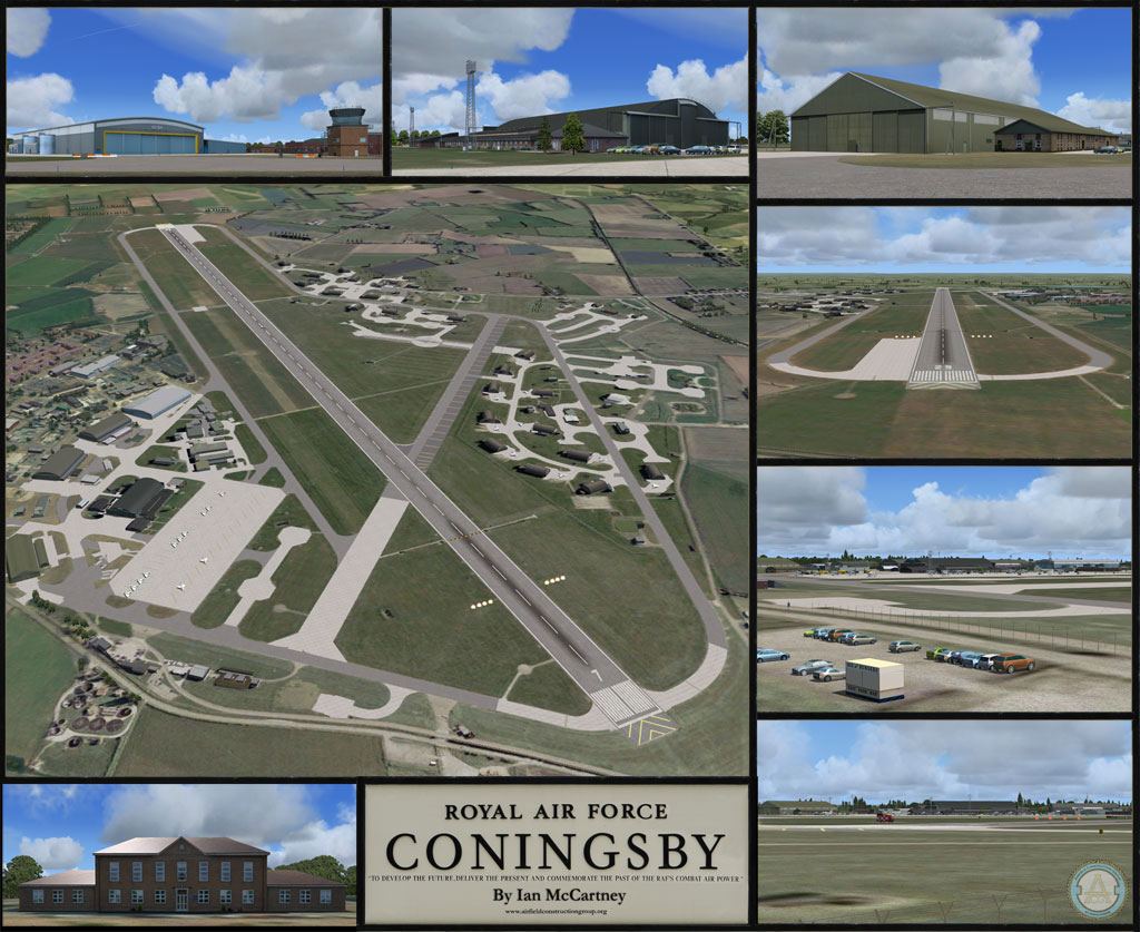 Bankbelysning Kok Fast Installation : Poster for RAF Coningsby Scenery