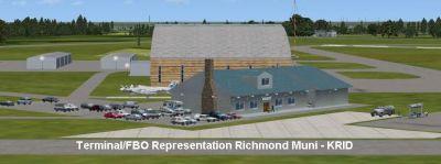 Screenshot of Richmond Municipal Airport Terminal.