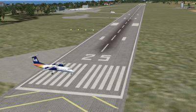 Robert L. Bradshaw International Airport Scenery.