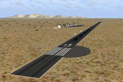 Screenshot of Runway 13 at San Felipe Airport.