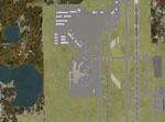 Aerial shot of Sanford Orlando International Airport.