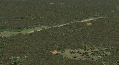 Screenshot of Saul French Guyana Scenery.