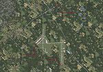 Aerial shot of Scott AFB Airshow Scenery.