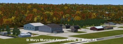 Screenshot of St. Marys Municipal Airport Scenery.
