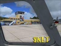 Screenshot of Vasquez Cobo Airport Scenery.