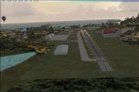 Screenshot of Virgin Islands runway.