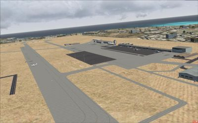 Yoff Airport Scenery.