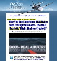 "Screenshot from the ""Pro Flight Simulator"" website."