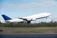 The Boeing 747 Intercontinental with no paint.