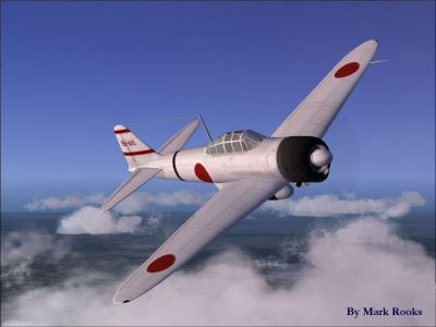 Screenshot of A6M2 Zero Rising Sun in flight.