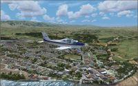 Screenshot of plane flying over Alexandra Scenery.