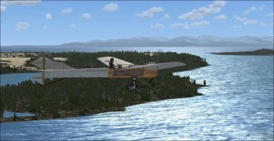 Screenshot of Antoinette Type VII in flight.