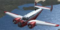 Screenshot of Beech AT-11 N92KC in flight.