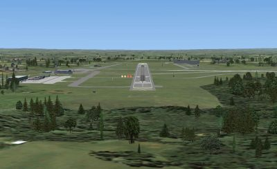 Screenshot of Blackbushe scenery.