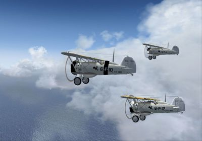 Screenshot of Boeing F4B-4's flying in formation.