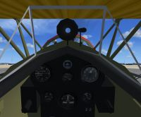Cockpit view of Boeing P-12E.