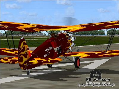 Screenshot of Bristol Bulldog IIA on runway.